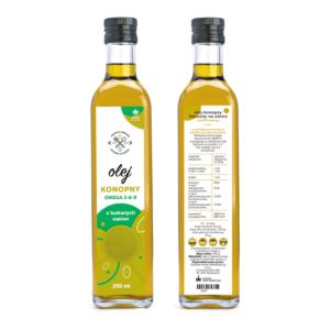Olej konofny z luskanych nasion