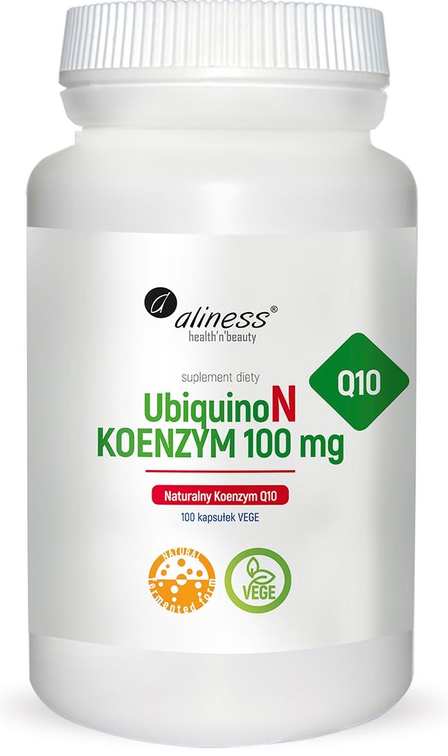 UbiquinoN Naturalny KOENZYM Q10 100mg x 100 Vege caps.