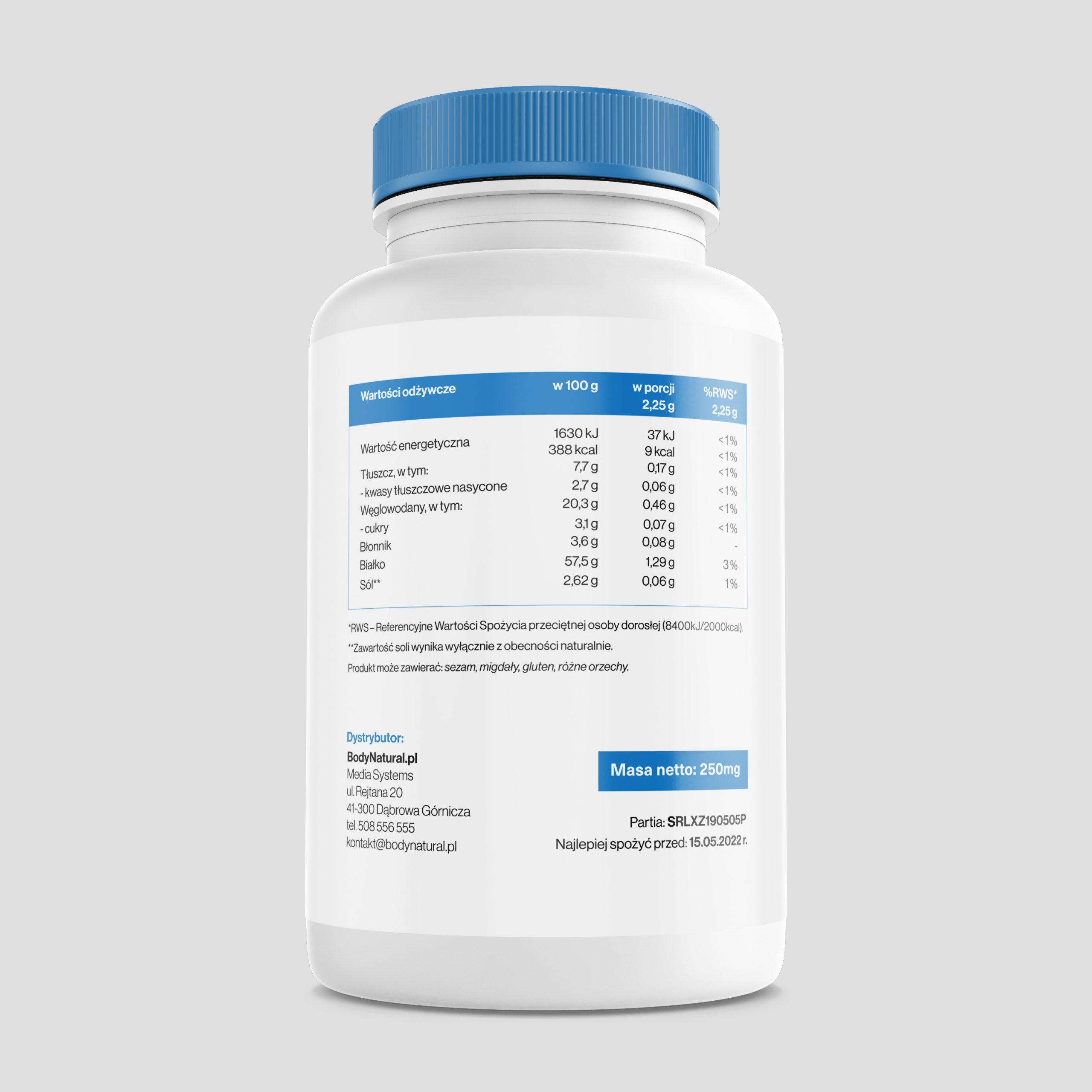 Spirulina BodyNatural 1000 tabletek